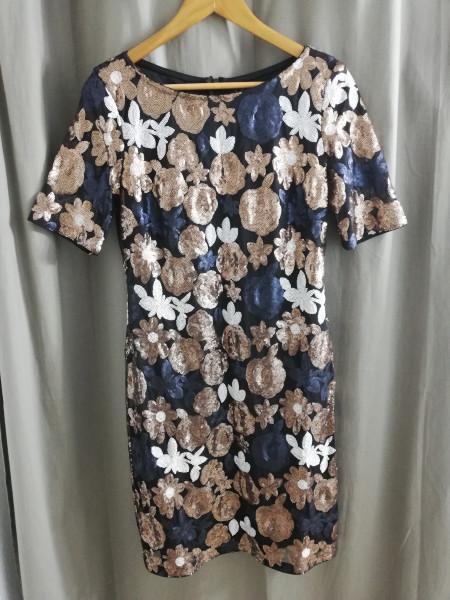Vera Mont Abendkleid mit Pailletten Gr.36/S-38/M