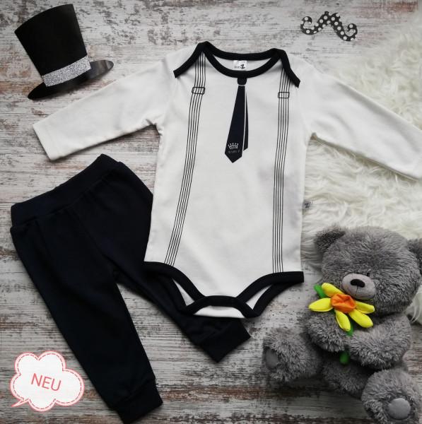 Newborn Baby Junge Body und Hose Gentleman
